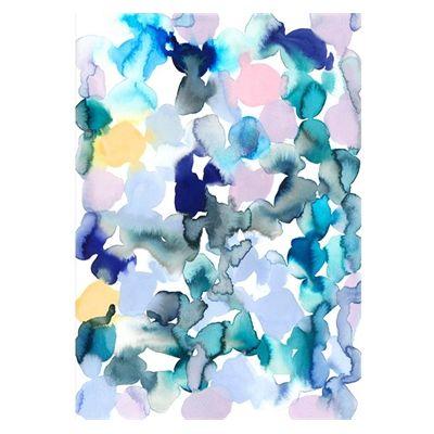 nice The Home Journal Cornflower Blue & Buttercups Clouds Print