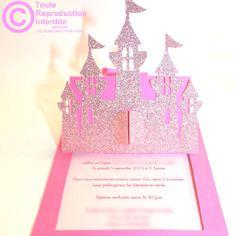 Lot De 25 Faire Part Baptême Naissance Princesse Et Château