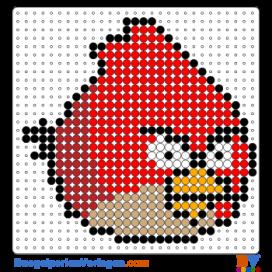 Angry Birds Buegelperlen Vorlagen Web Kinder Pinterest Perler