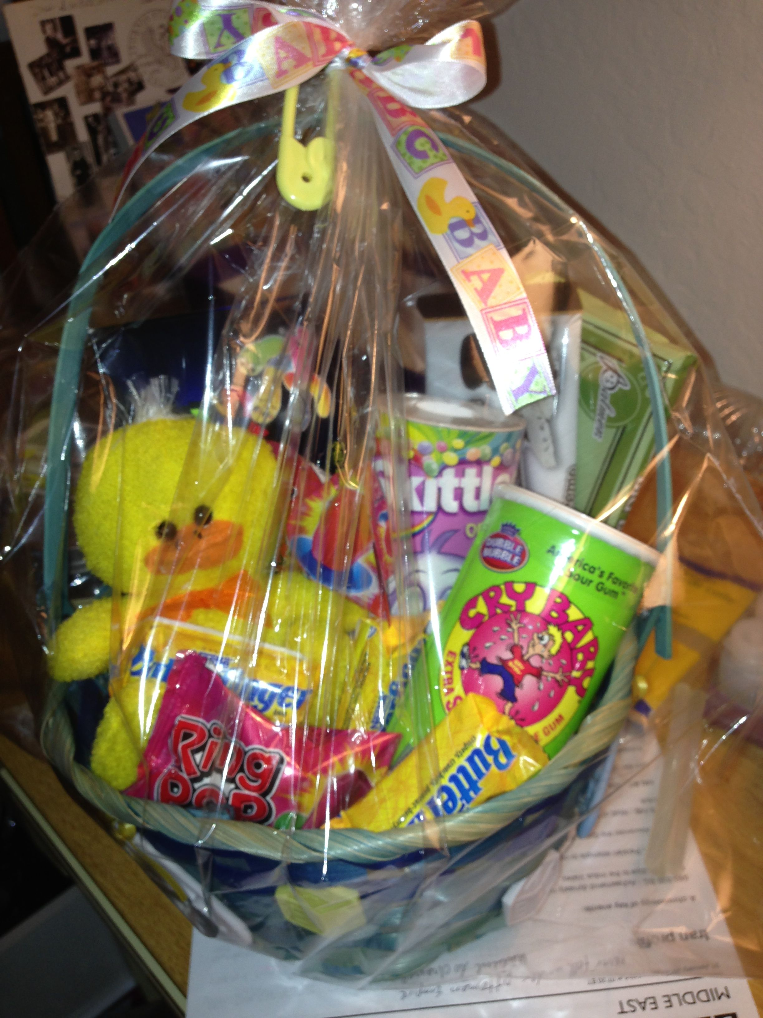 Baby Shower Diaper Raffle Prize Basket Dollar Tree Win The