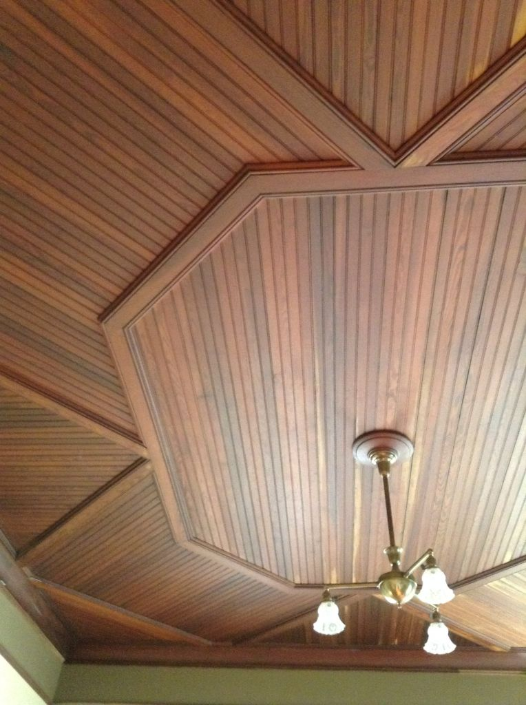 Beautiful Tongue And Groove Ceiling In This Crazy Octagon Pattern Tongue And Groove Ceiling Home Ceiling Octagon House