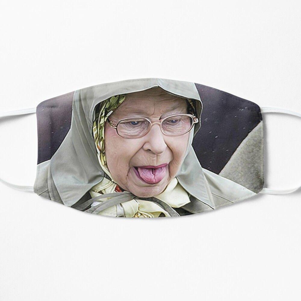 Queen Elizabeth Ii Poking Out Her Tongue Mask By Artbycpolidano In 2021 Queen Elizabeth Ii Elizabeth Ii Queen Elizabeth