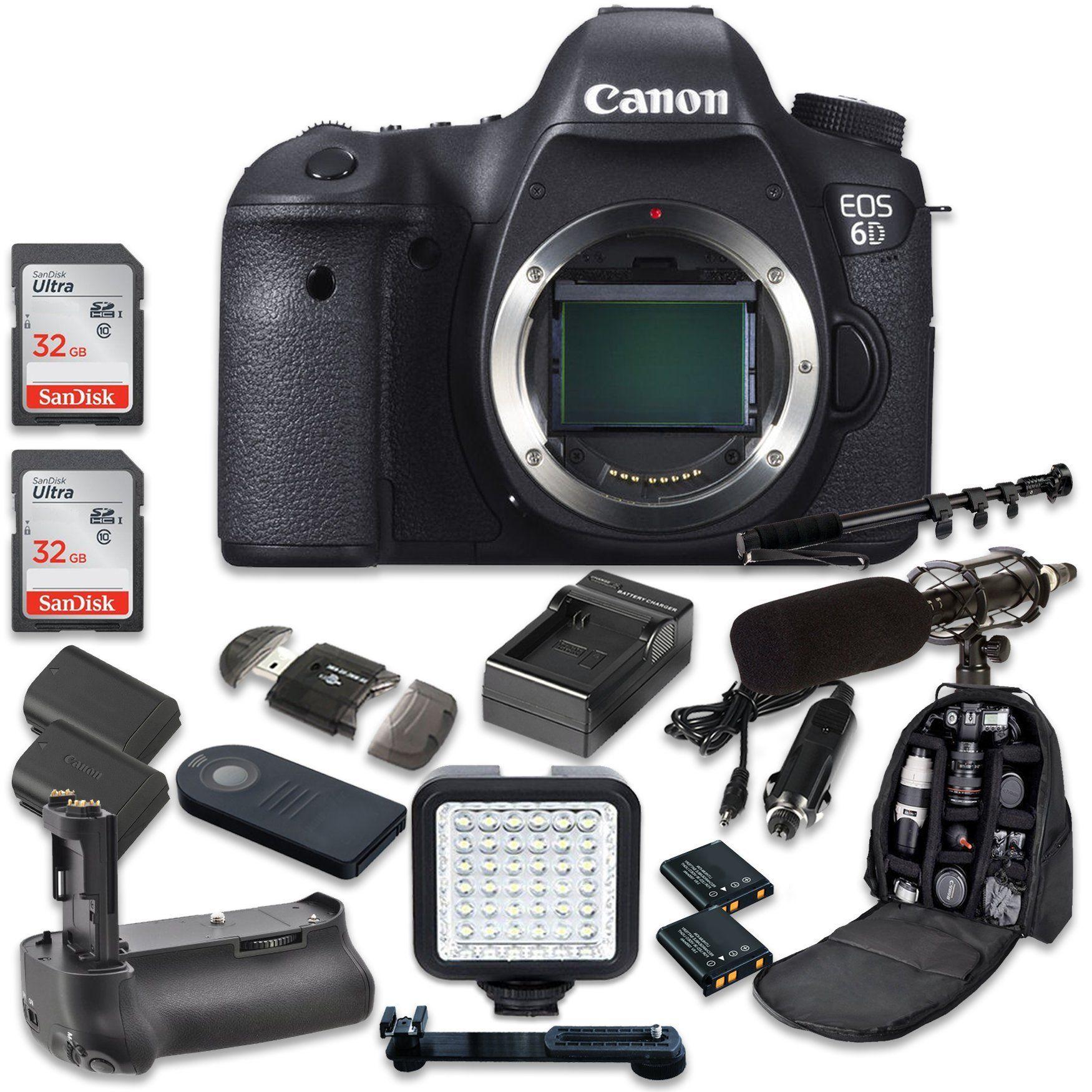 Canon EOS 6D 20.2 MP Full Frame CMOS Digital SLR DSLR Camera (Body ...