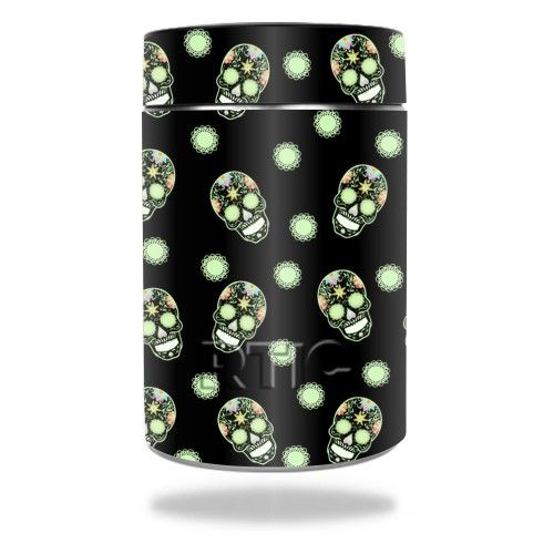 Skin Decal Wrap for Rtic Can cover sticker Glowing Skulls