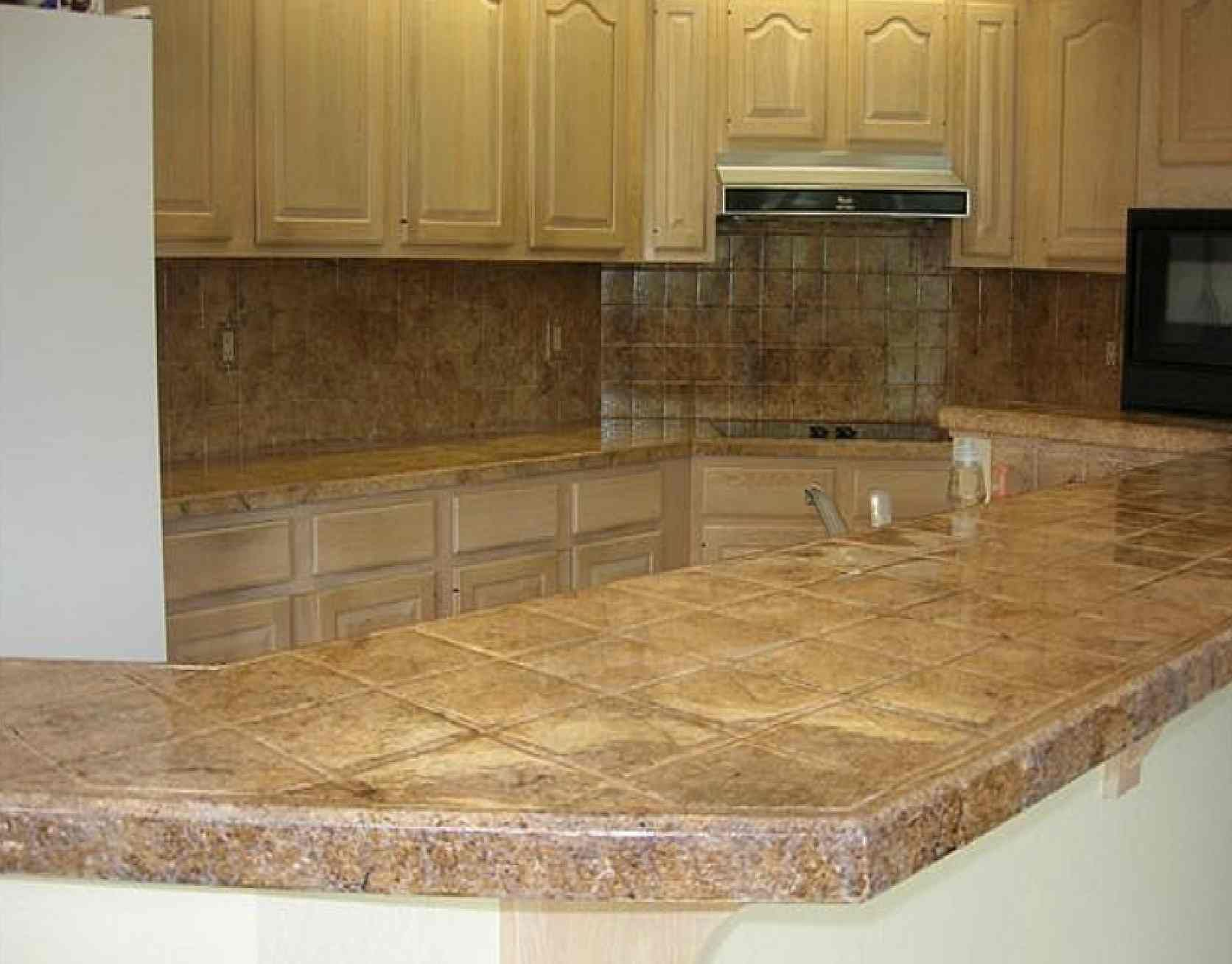 Painting tile countertops Kitchen countertop ideas