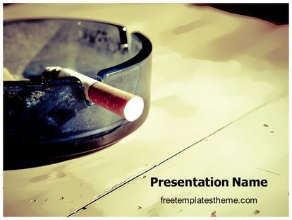Get this #Free #Cigarette #PowerPoint #Template with different