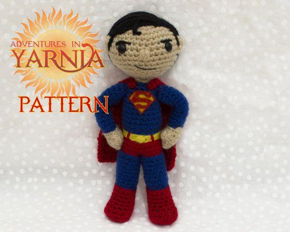 Superman Amigurumi, Superhero Doll Crochet Pattern