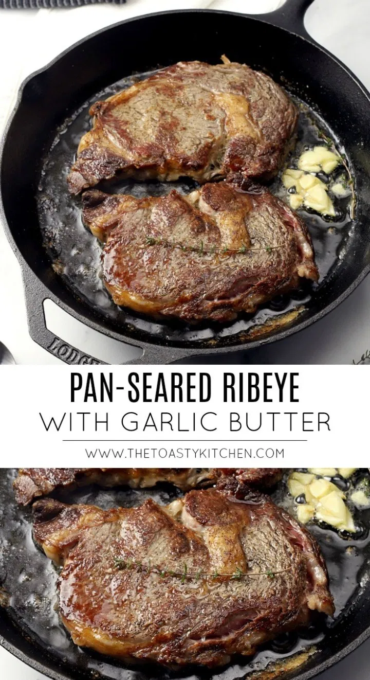 Pan-Seared Ribeye with Garlic Butter