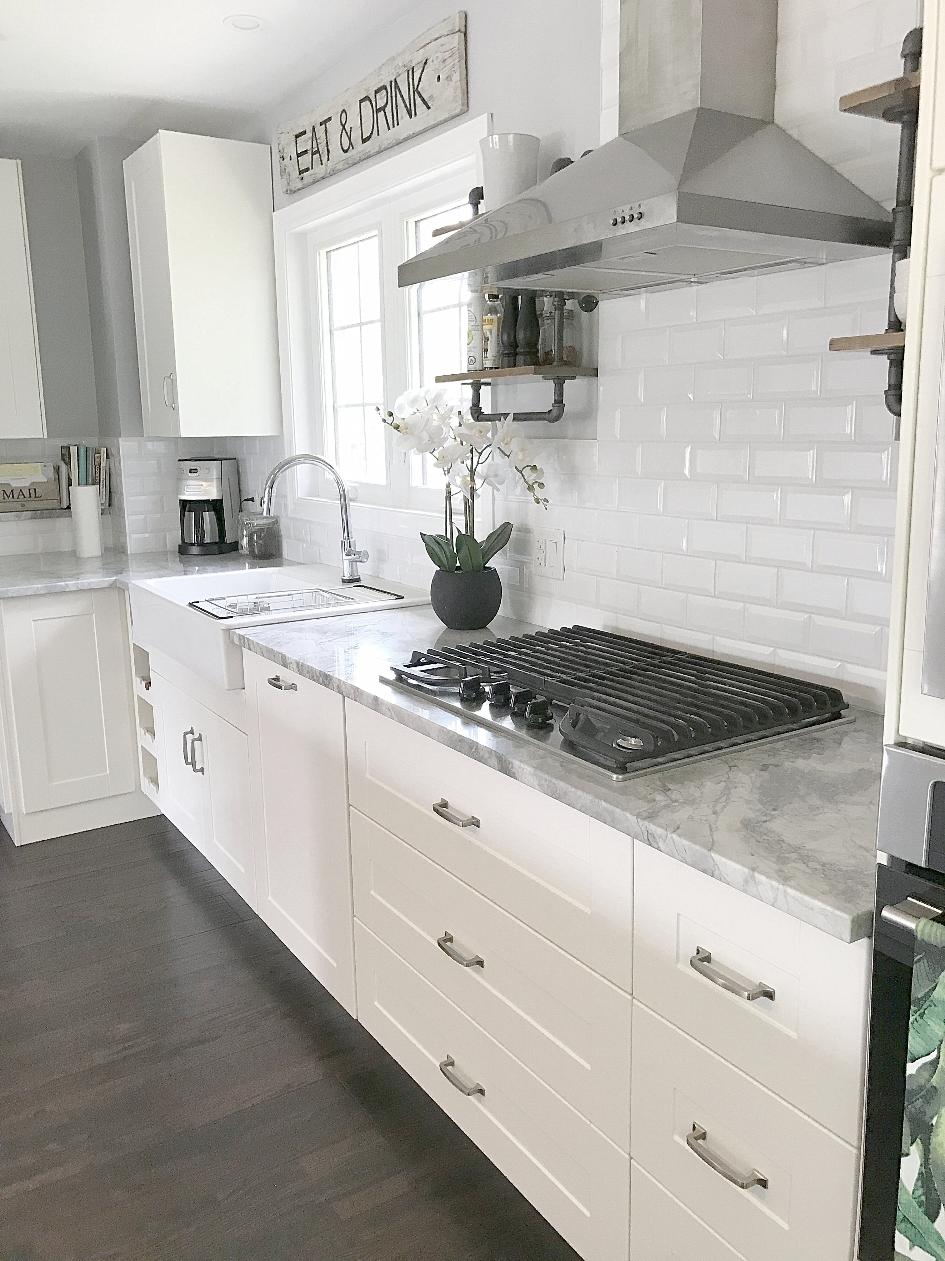 Ikea Kitchen White Grimslov The Tiles In 2019