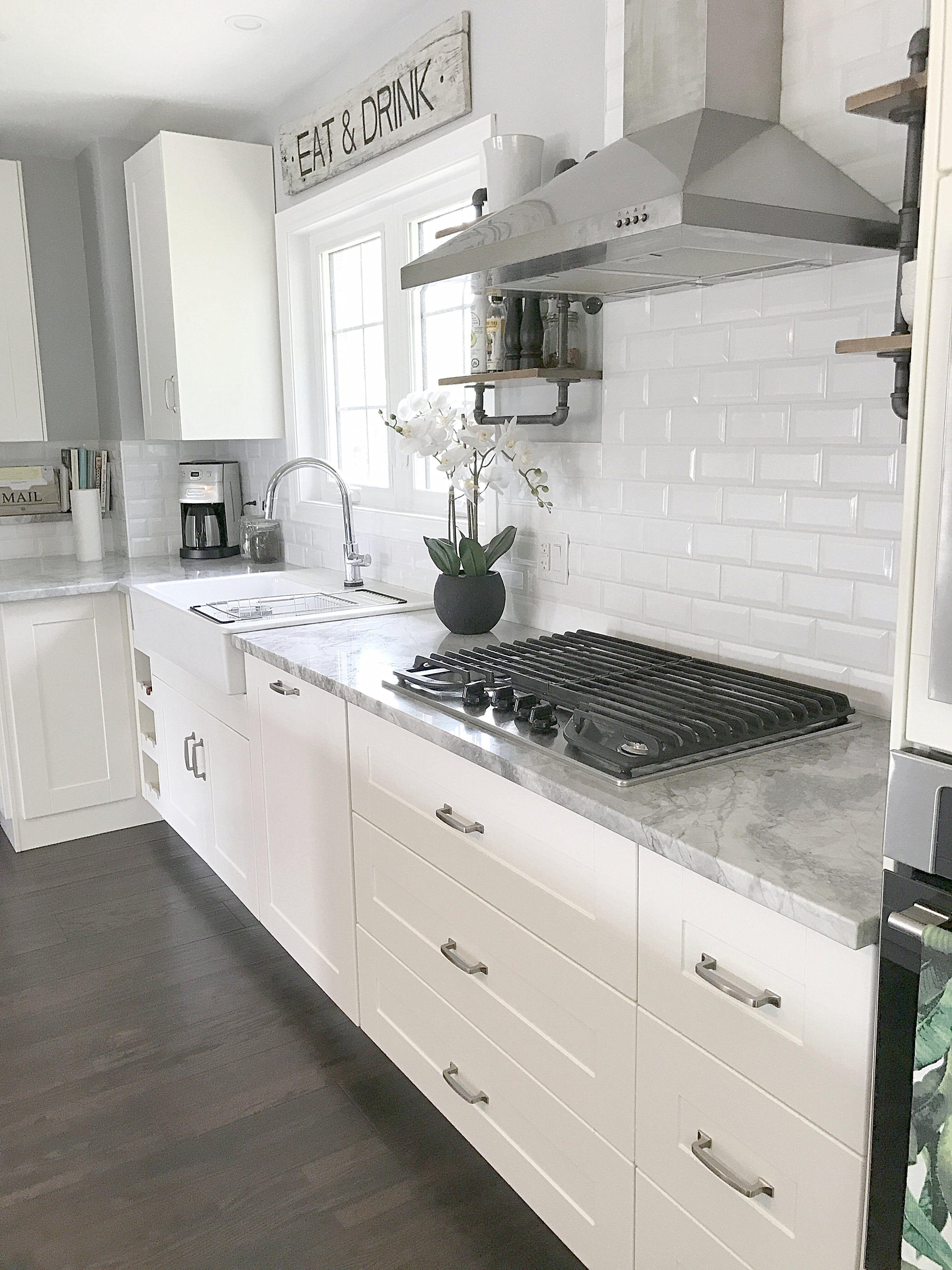 Ikea Kitchen White Grimslov Cheap Kitchen Remodel Diy Kitchen Renovation Kitchen Layout