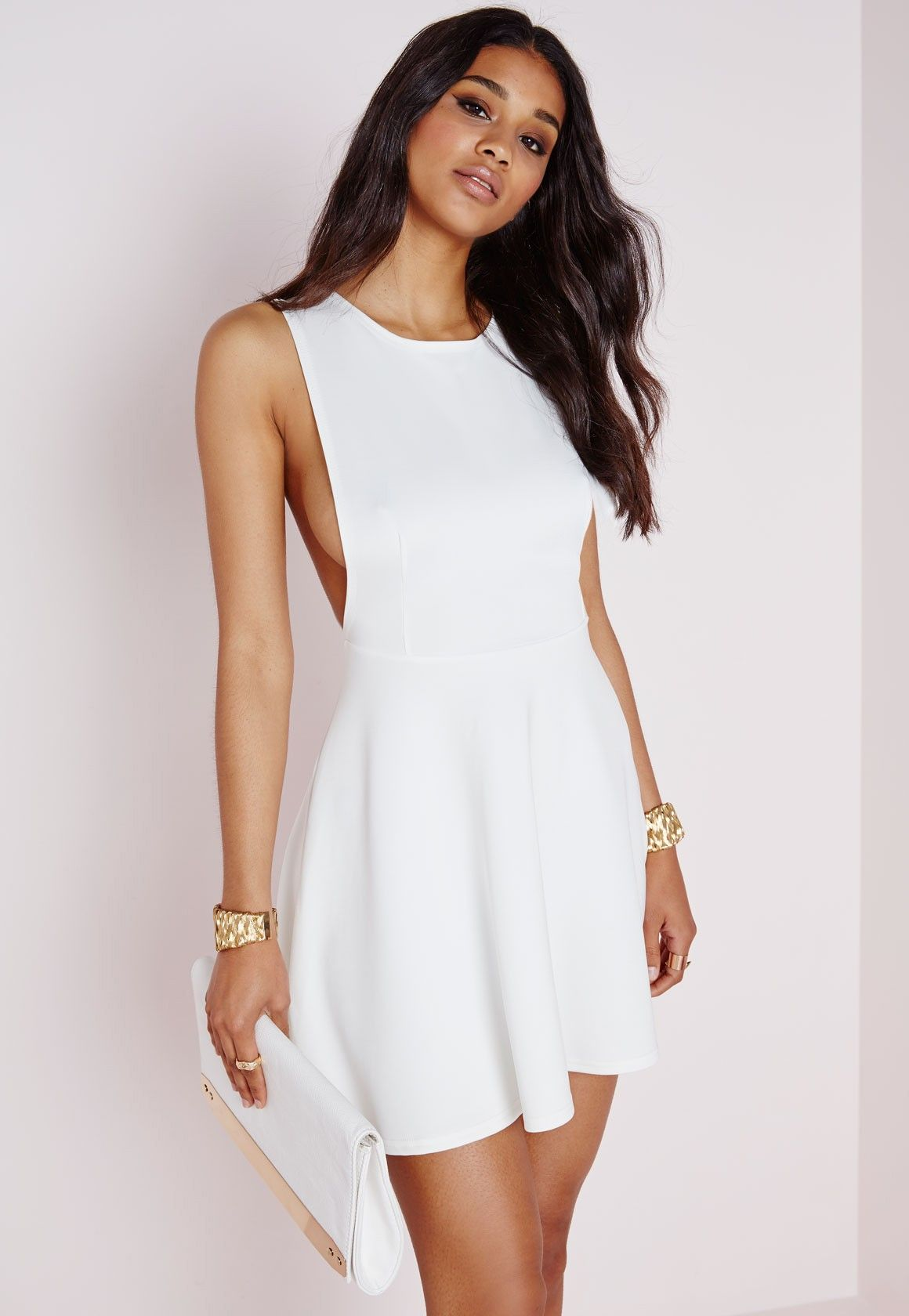 ae6c0a6f77 Look seriously seductive this season in this white skater dress and ensure  all eyes on you