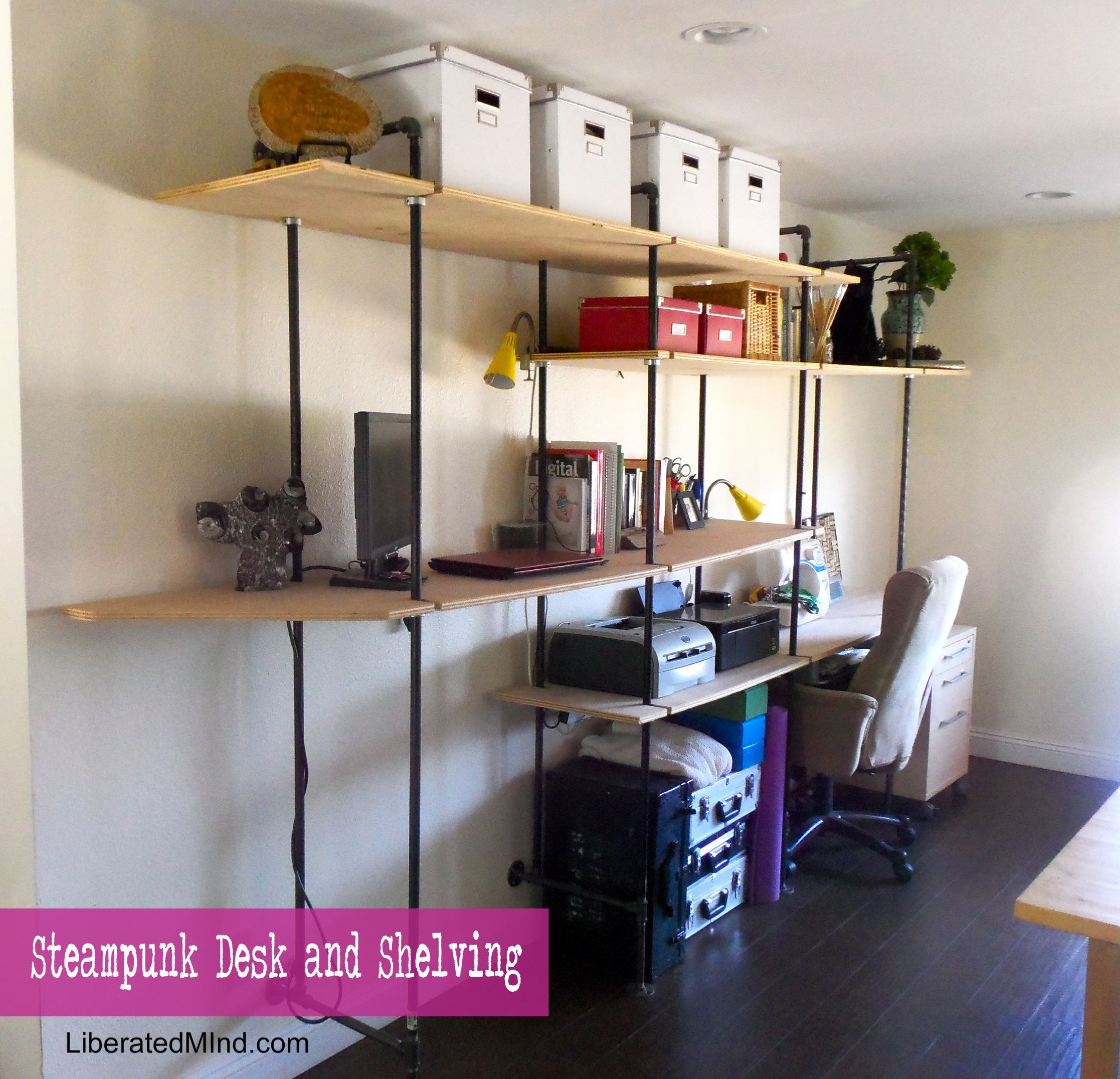 Steampunk Desk And Shelving Diy