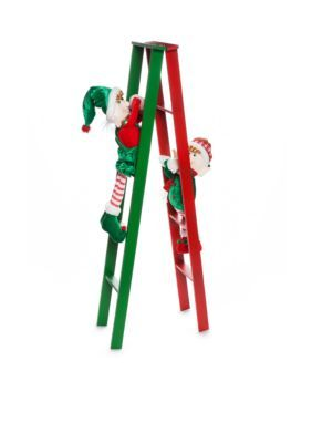 Home Accents® Santa Stop Here Elves on a Ladder Decor ...