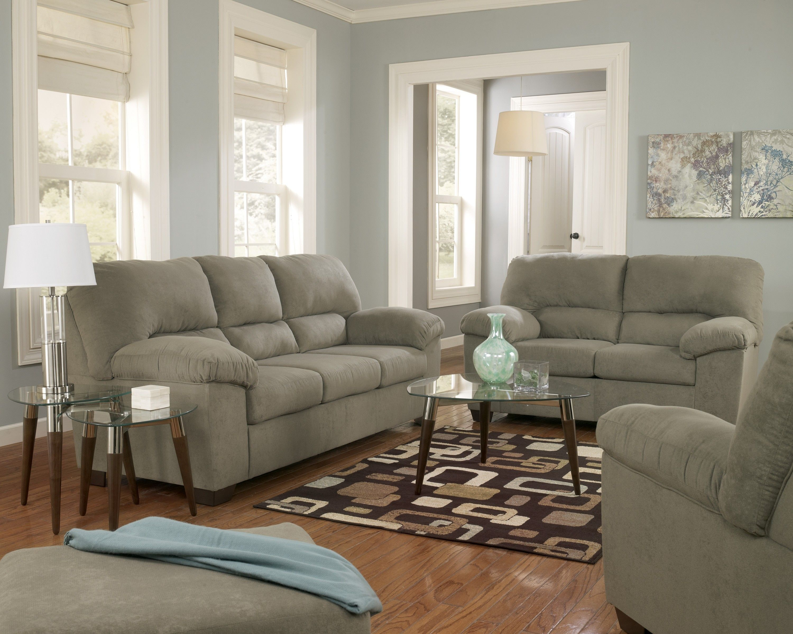 Grey and green living room - Living Room Sofas Modern Home Decorating Couch Sale