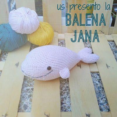 DIARI DE COLORS: LA BALLENA JANA CON PATRÓN PARA GANCHILLO