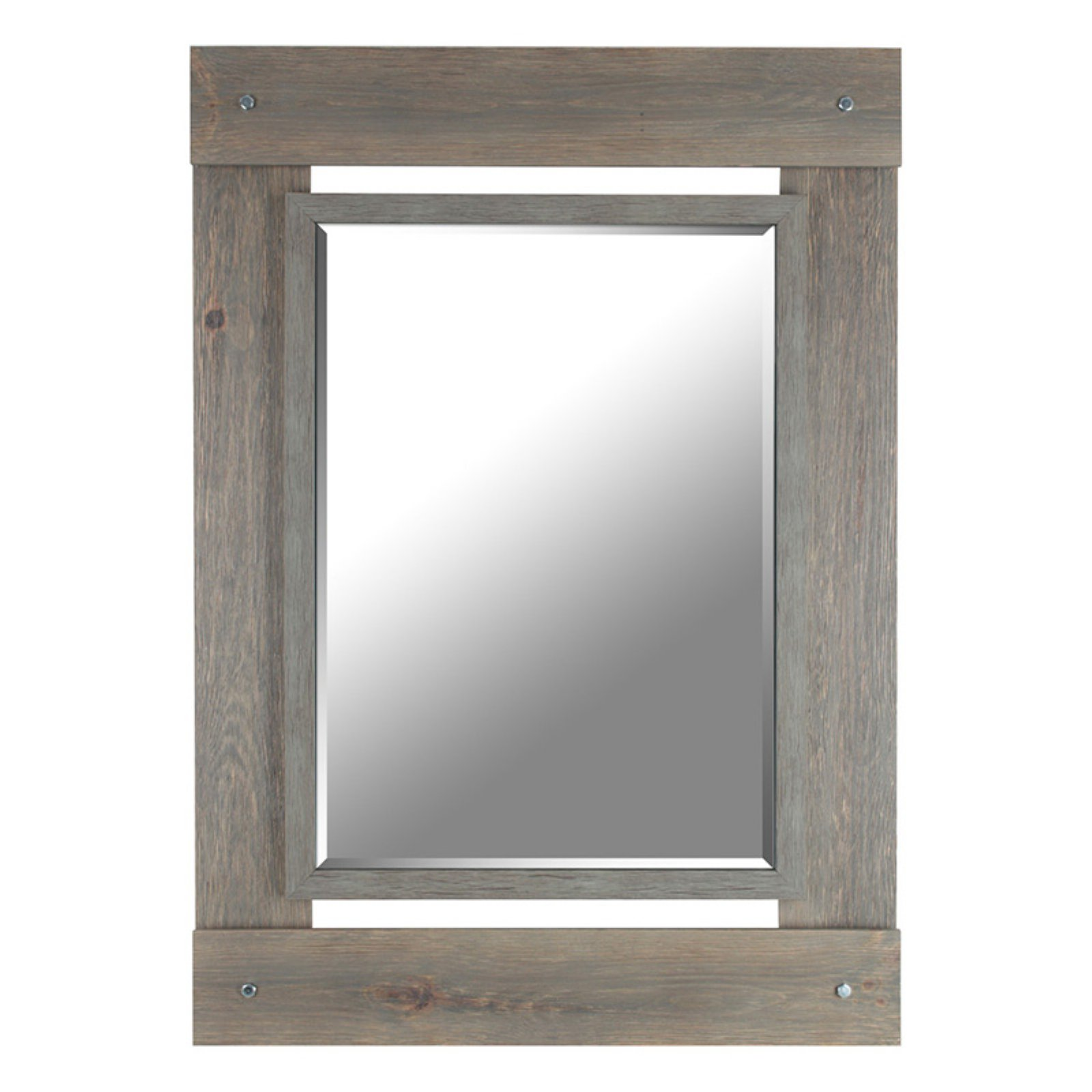 Mirrorize Canada Real Wood Beveled Mirror 30W x 43H in
