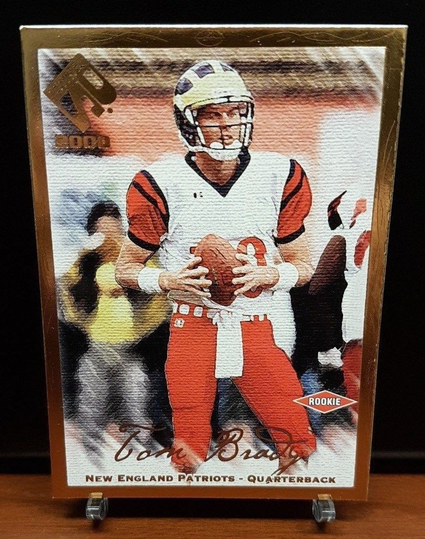 2000 private stock tom brady gold rc limited to 181 non