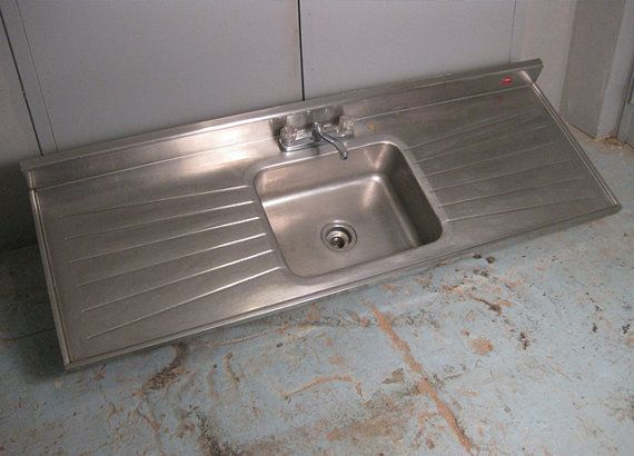 Vintage 1940 S Stainless Steel Tracy Kitchen Sink