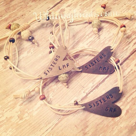 Set of Three Friend/Sister BRACELETS Perfect  by WhimsyKnots, $42.00