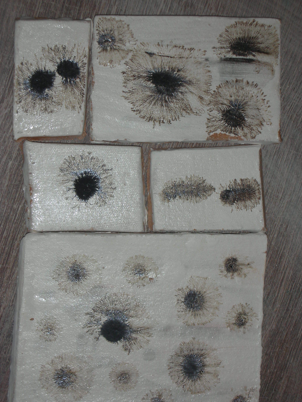 Glazed ceramic tiles using manganese oxide and vinegar placed on glazed ceramic tiles using manganese oxide and vinegar placed on wet slip created this fern dailygadgetfo Choice Image