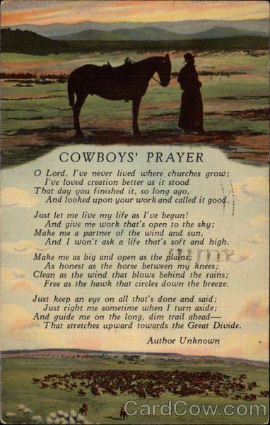 Cowboy Prayer On Pinterest