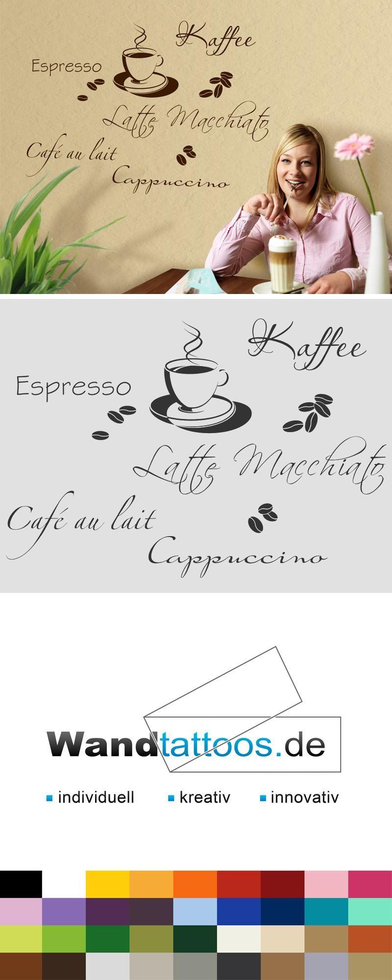 Wandtattoo Kaffeetasse mit Bohnen Kaffeesorten in 2019 ...