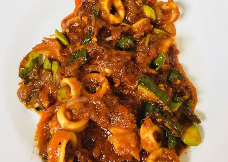 Resep Cumi Sambal Pete Oleh Bawang Merah Resep Resep Masakan Resep Masakan Indonesia Ide Makanan