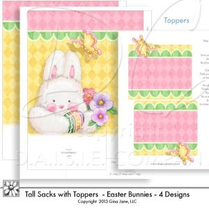 Gift bags printable easter bunny sacks with toppers large size gift bags printable easter bunny sacks with toppers large size sacks are 5 negle Images
