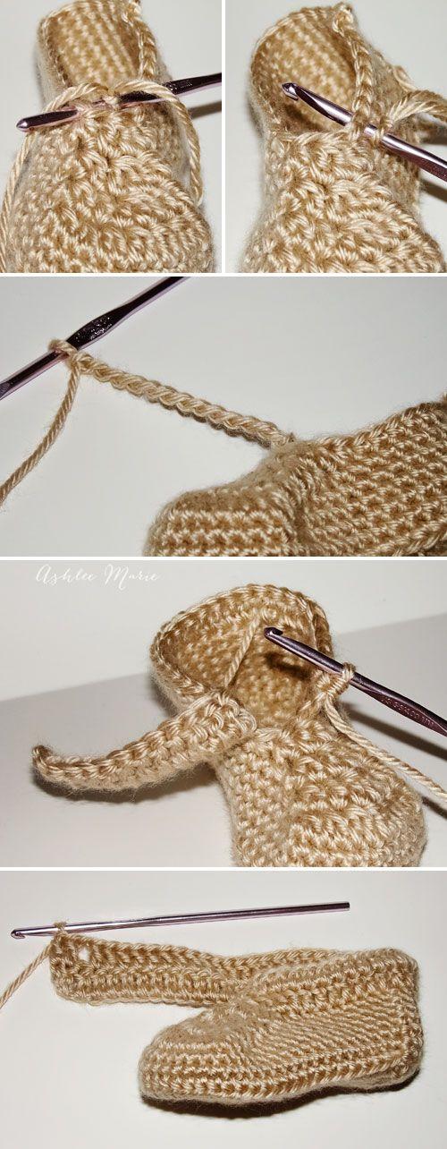dónde colocar el manguito y la forma de hacerlo, envoltura crochet ...