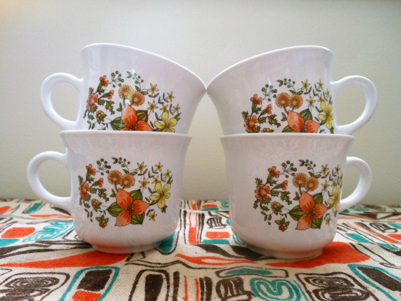 Corelle indian summer coffee mugs corningware indian