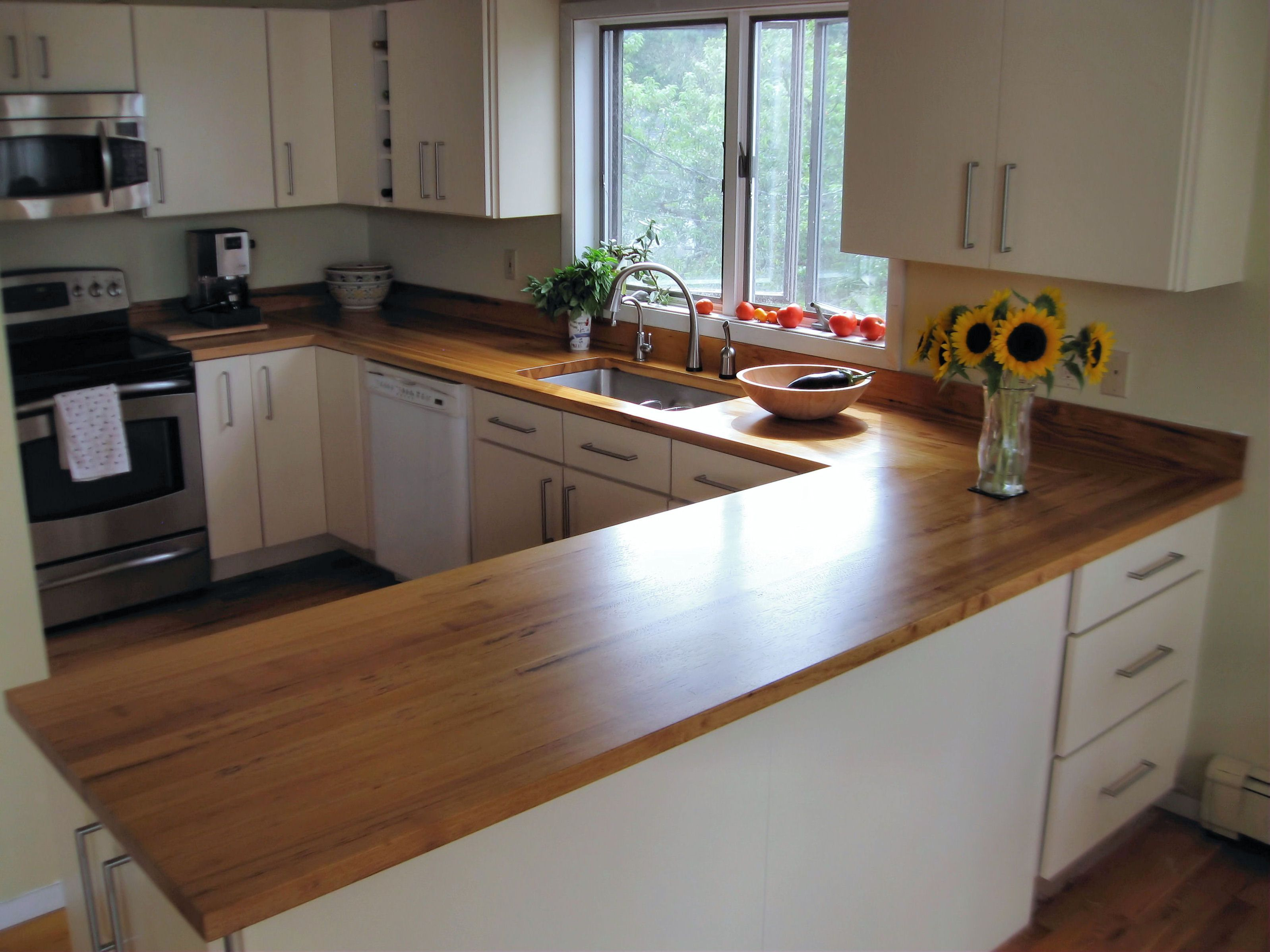 Wood Kitchen Counters Best Stain For Cabinets Devos Custom Woodworking Pecan Countertop Photo