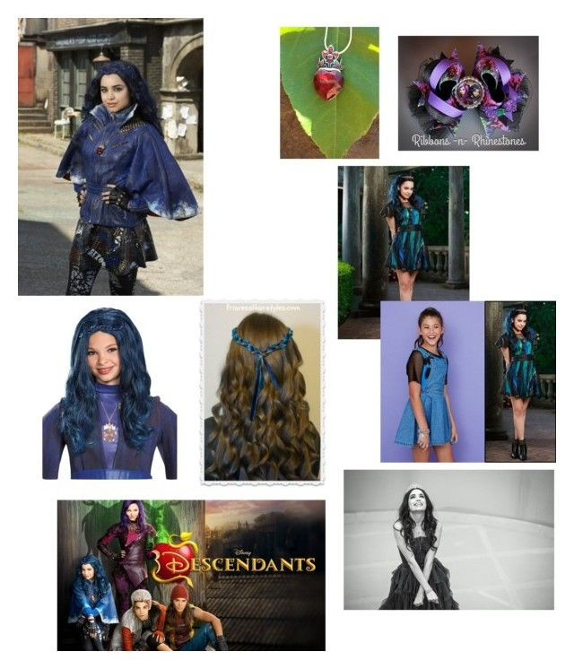 """""""Evie descendants"""" by emmazeigler ❤ liked on Polyvore featuring Disney"""