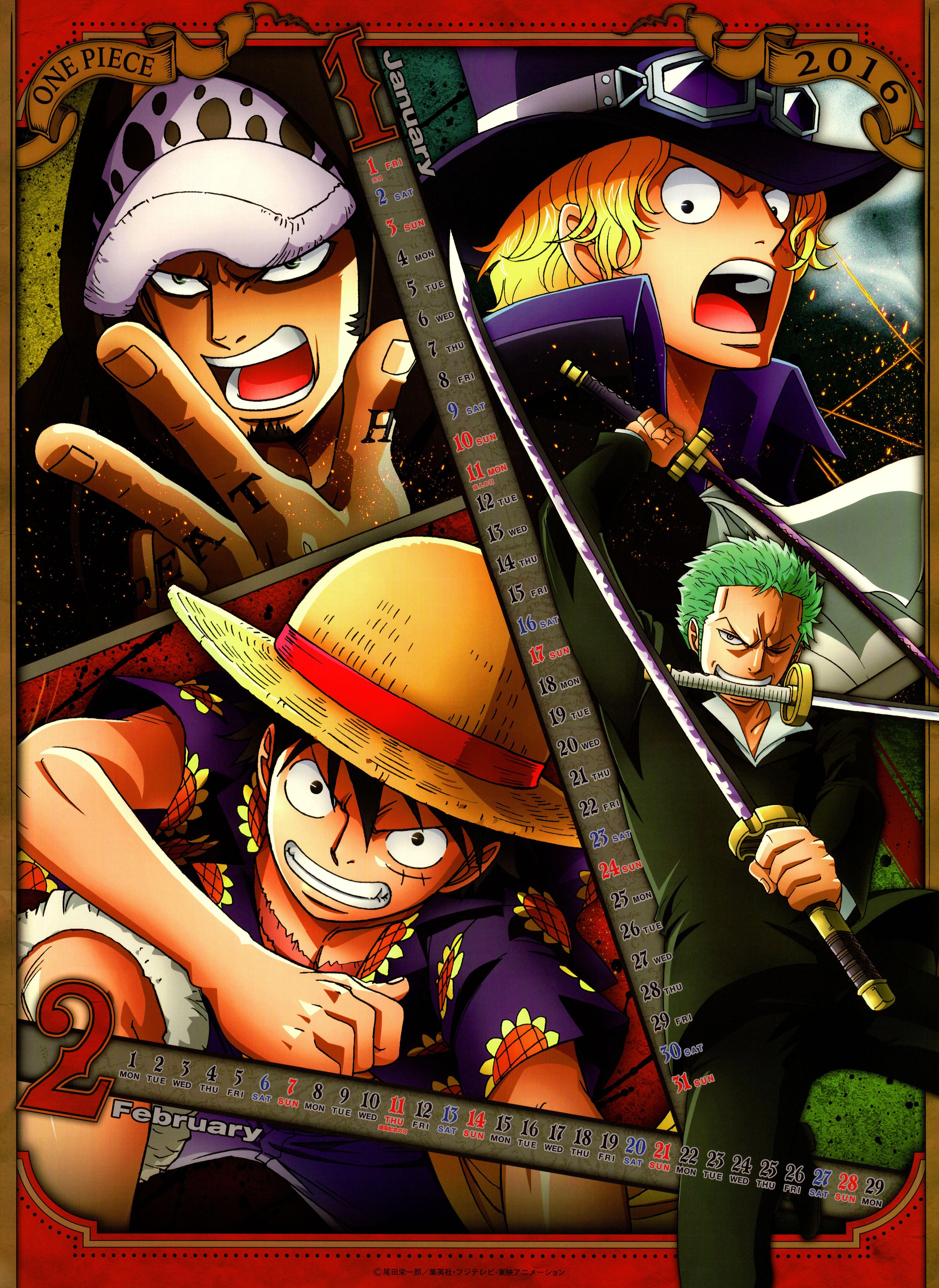 Toei Animation One Piece One Piece 2016 Calendar Roronoa Zoro