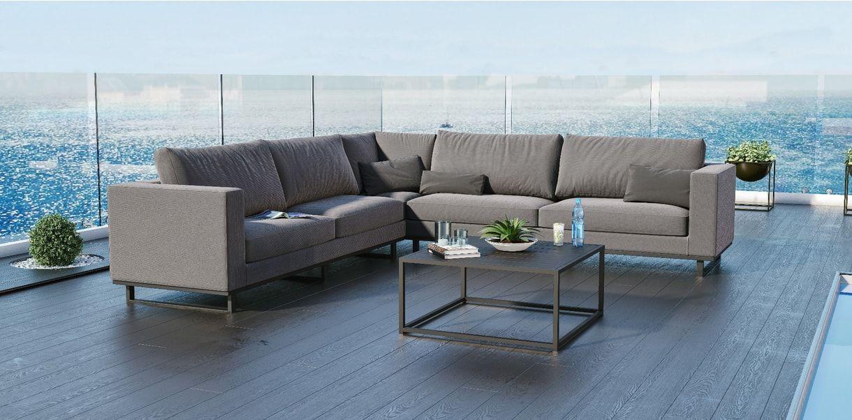 Delano Outdoor Sectional Sofa Gray Outdoor Sectional Sofa Grey Sectional Sofa Modani Furniture
