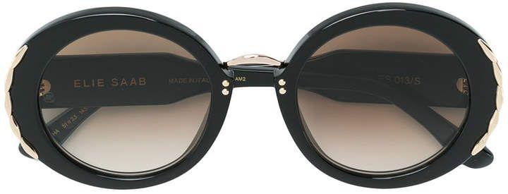 5e4251c7f7 Elie Saab oversized round frame sunglasses