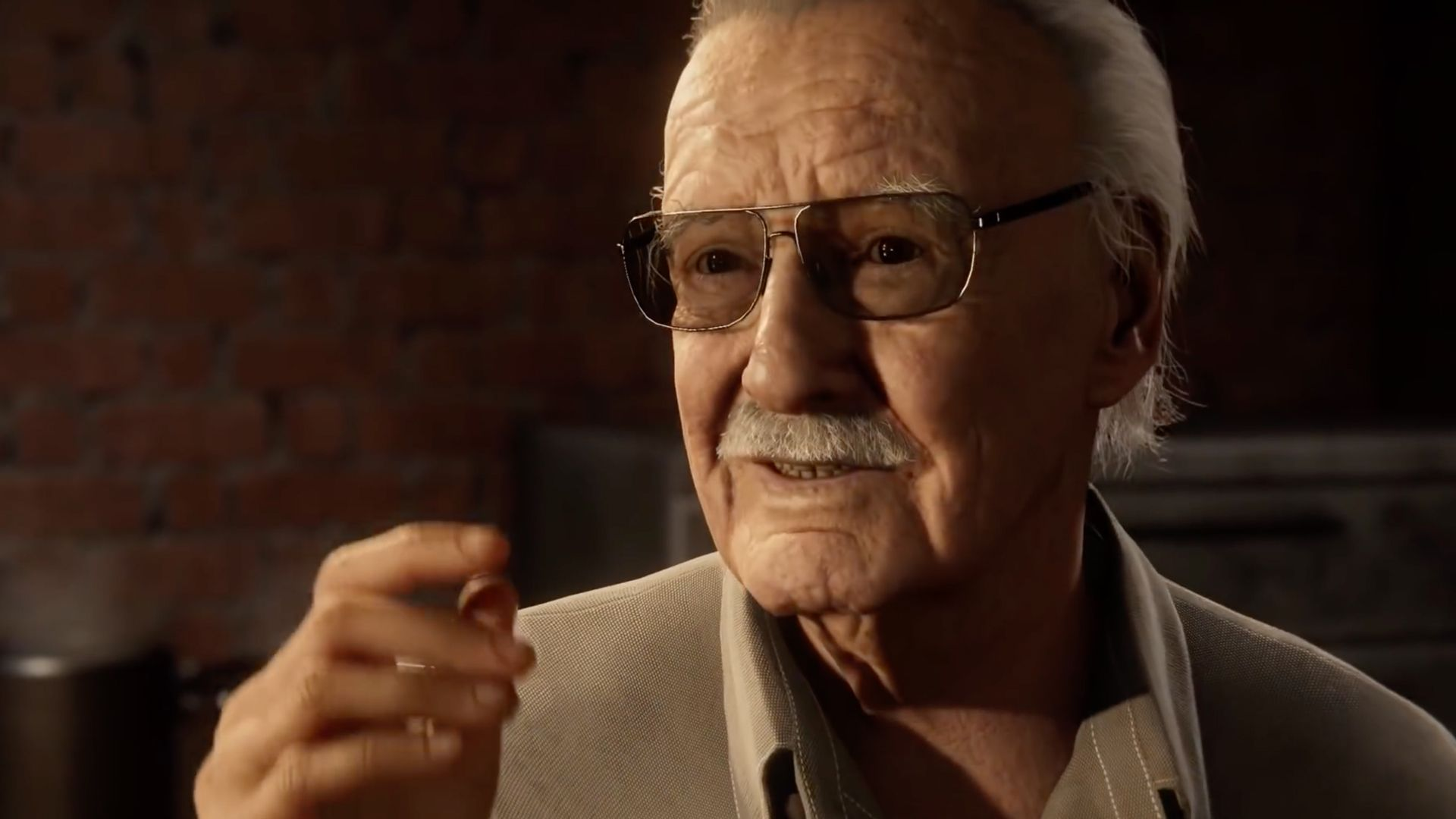 Stan Lee Cameo As Mike A Nyc Restauranteur In Spider Man Ps4 Stan Lee Cameo Stan Lee Stan Lee Quotes
