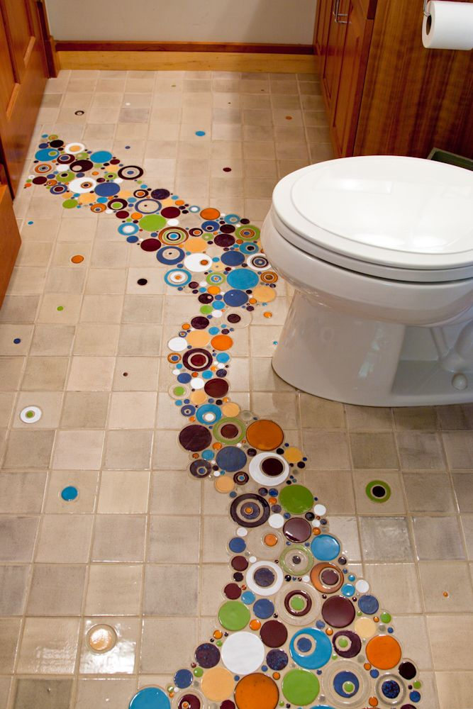 Tile Company Hand Made Ceramic Tiles By Mercury Mosaics Bubbling Bath Floor