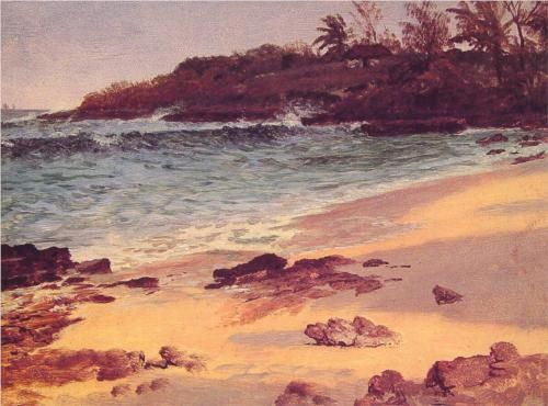 Bahama Cove - Albert Bierstadt  Luminism, Private collection