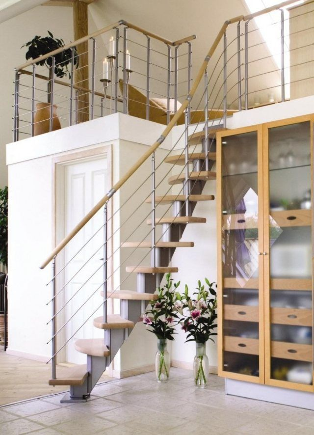 Designertreppen modern-raumsparend ideen Maisonette WOhnung ...