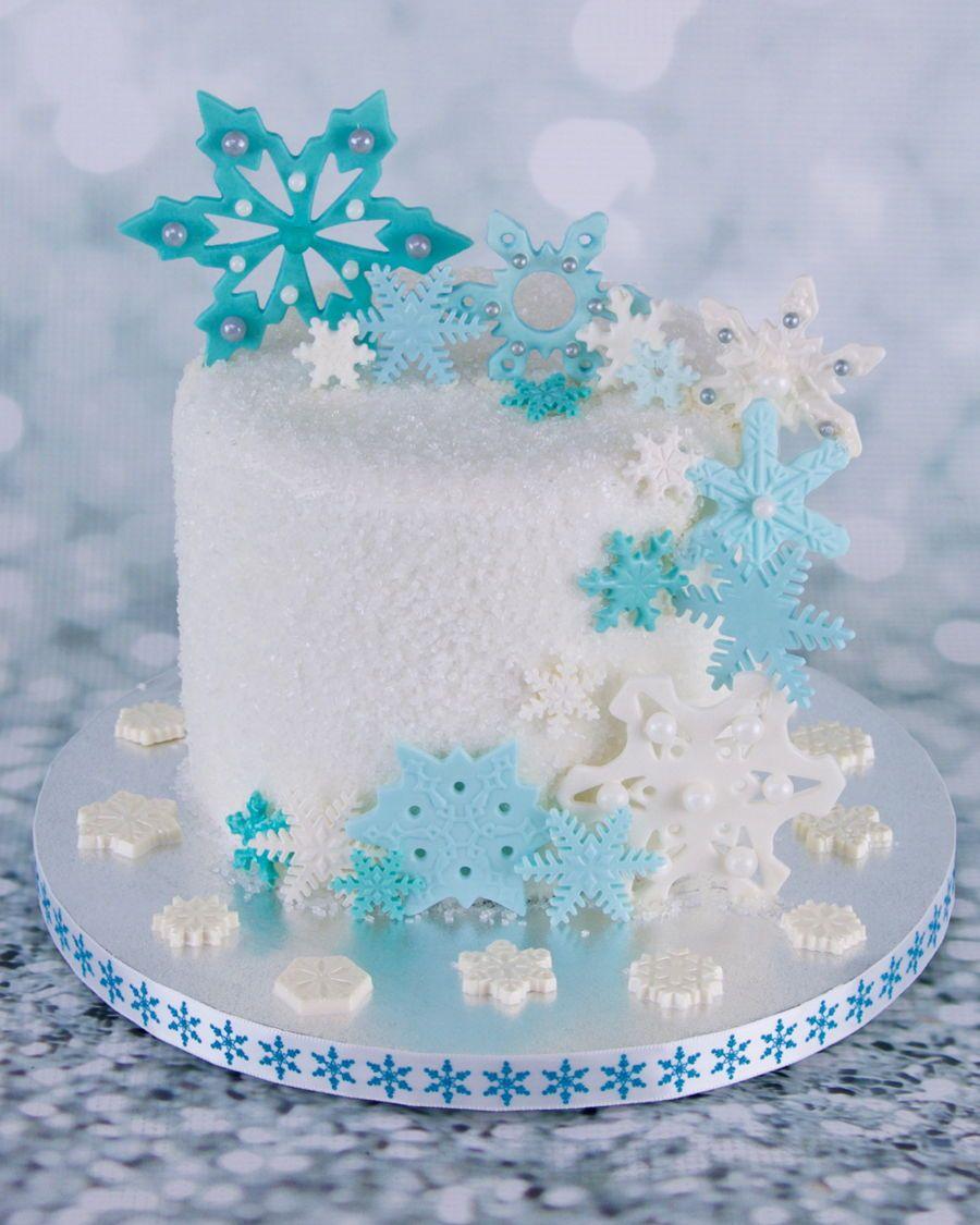 Surprising Snowflakes In 2020 Winter Wonderland Cake Winter Cakes Funny Birthday Cards Online Fluifree Goldxyz