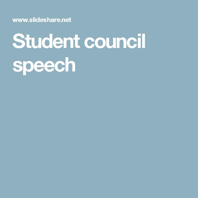 Student Council Speech  Student Council    Student