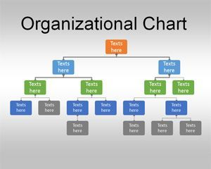 for powerpoint is a free organizational chart template that you can download to make business presentations showing a simple organization structure