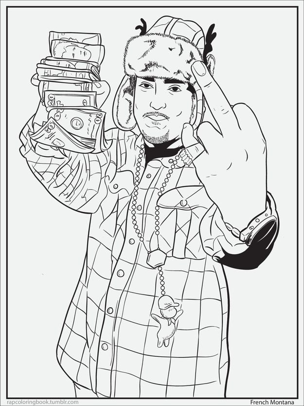7 Delightful Pages From A Rap Coloring Book Coloring Books