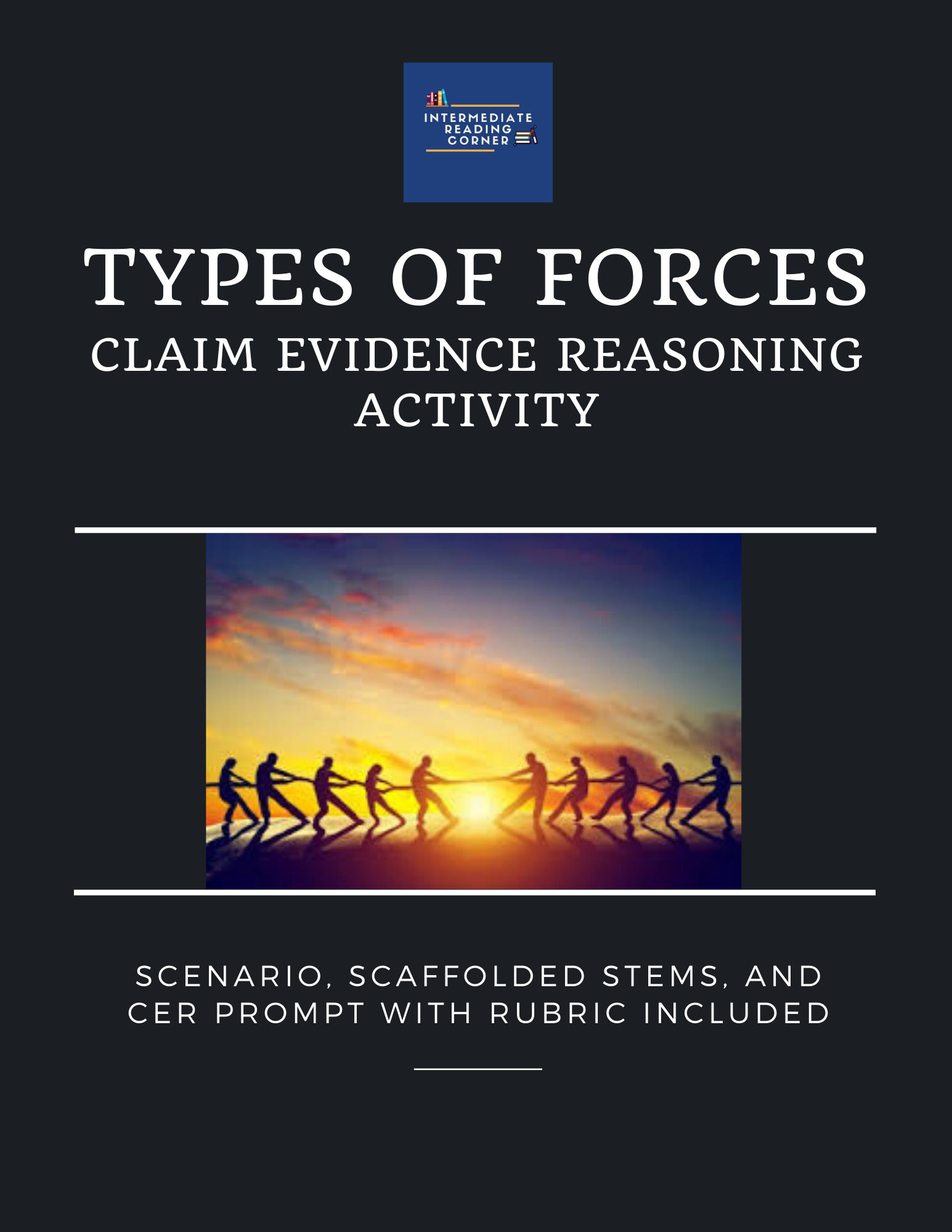 Types Of Forces Claim Evidence Reasoning Pack In