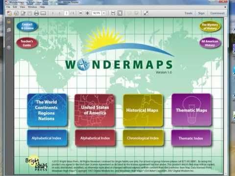 video review of Wondermaps by Bright Ideas Press