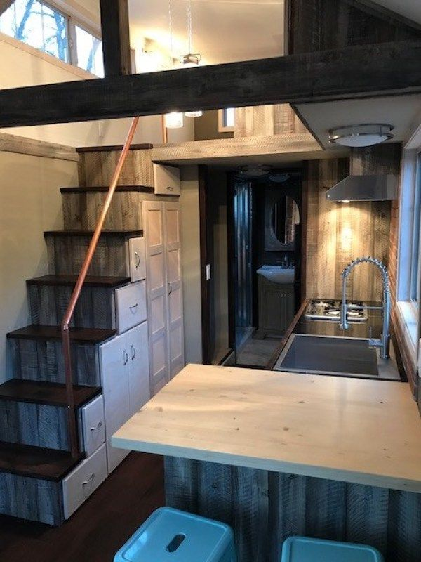 22ft Rustic Elegance Tiny House #tinyhouses