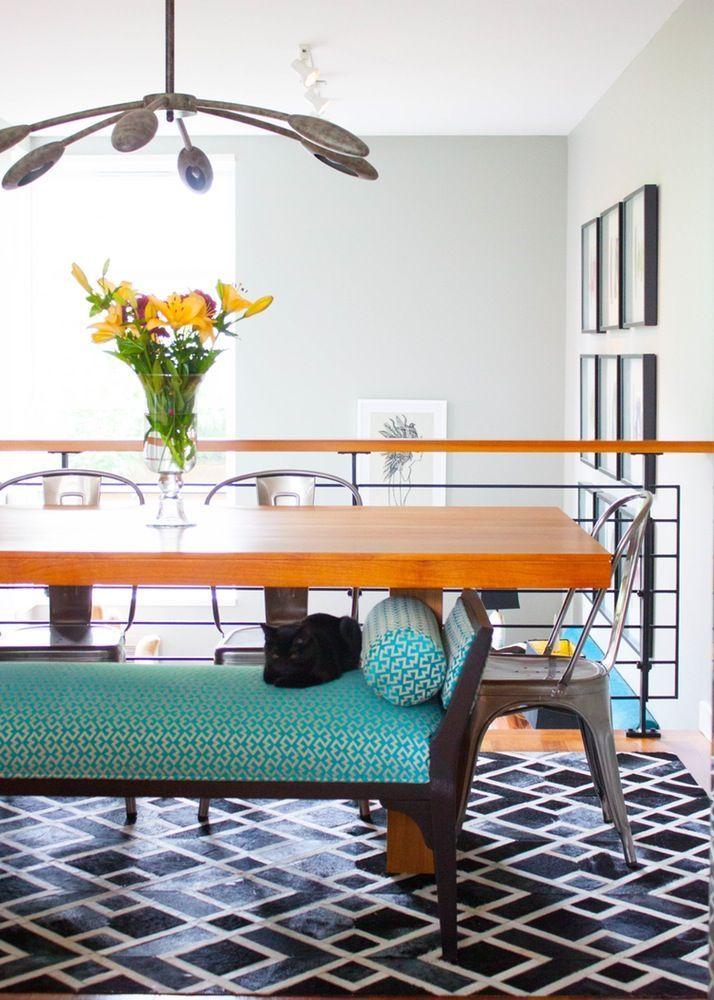 The Dining Room Overlooks Split Level Living