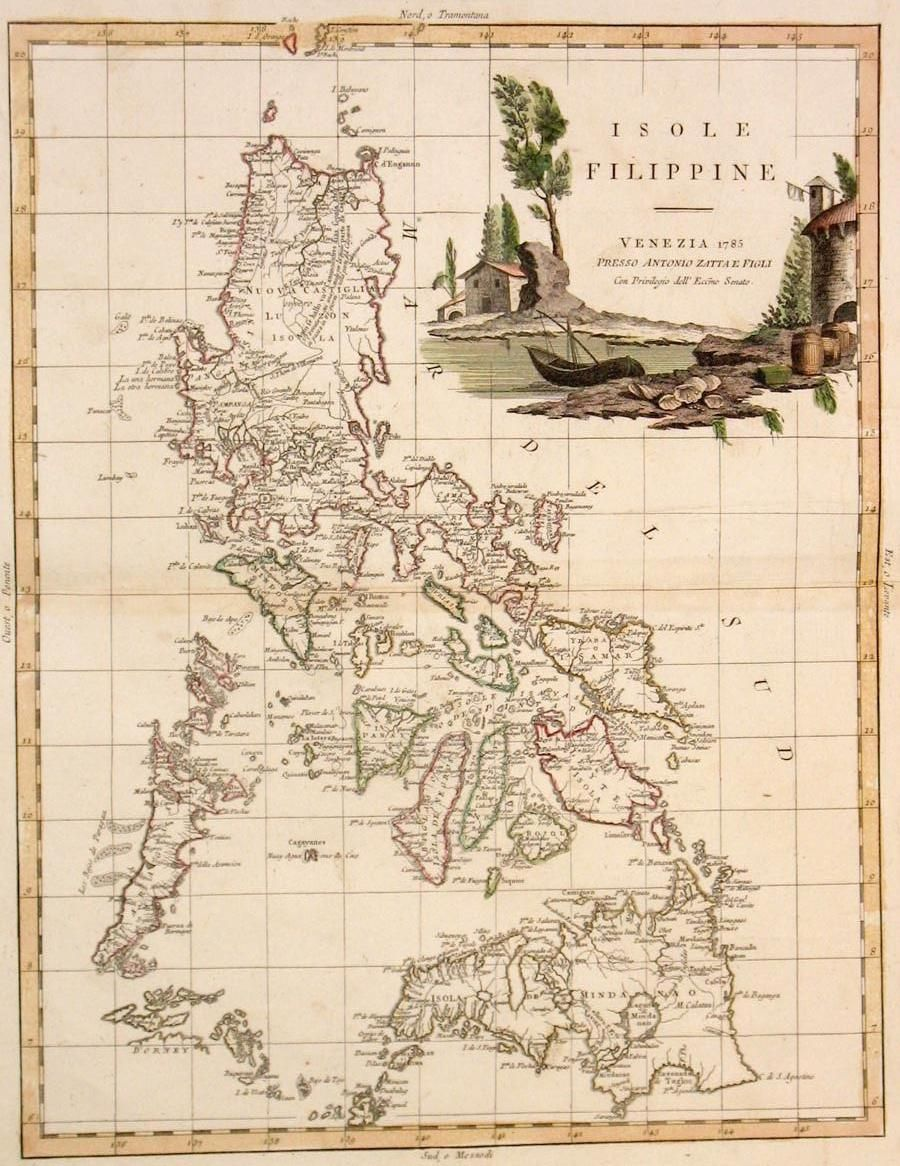 Spanish Philippines Map.Old Map Of The Philippines During Spanish Rule In 1785 Philippines