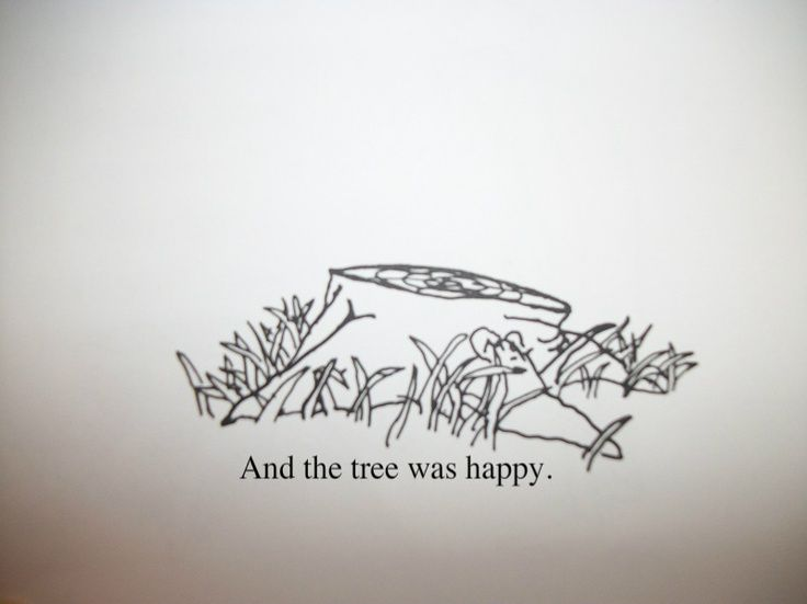Giving tree stump illustration google search make it permanent
