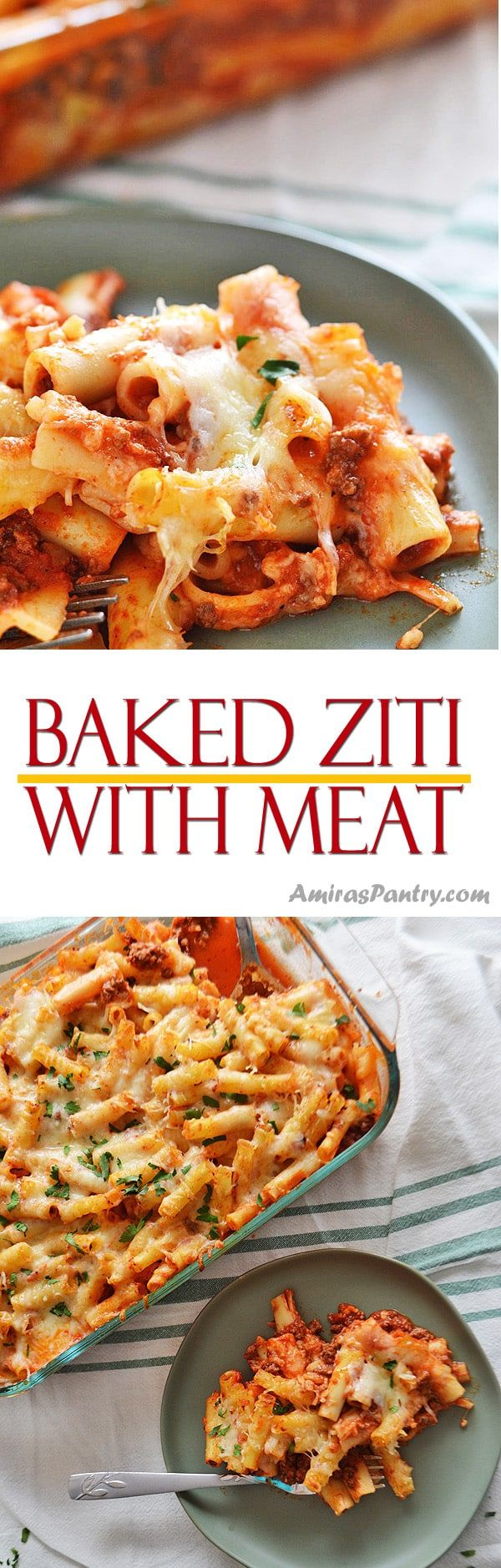 Easy Baked Ziti With Ground Beef Simple and easy baked ziti with ground beef recipe for a kid friendly weeknight dinner.  